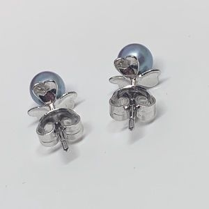 Jewelry - ⚜️Silver Marked & Blue Cultured Pearl Studs